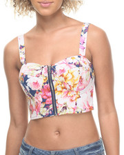 Women - Floral Printed Twill Bustier