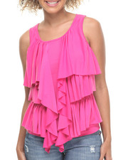 Women - Kat Draped Ruffles Knit Top