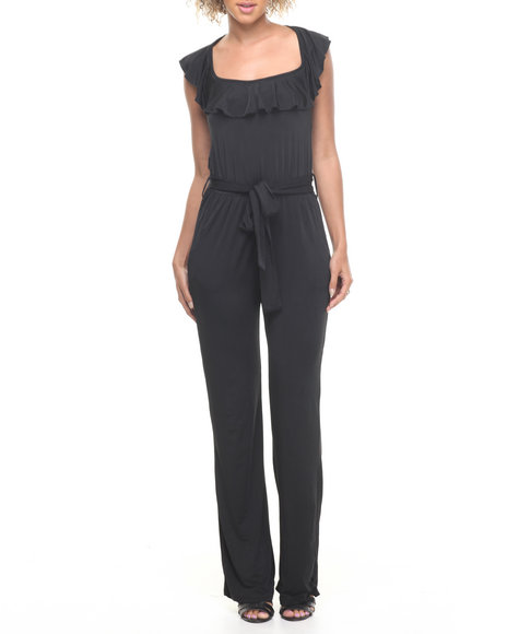 Fashion Lab - Women Black Kitty Knitted Jumpsuit