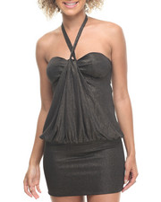 Women - Kylie Drape Front Halter Dress