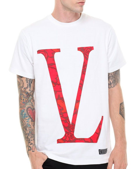 Vampire Life - Men White Blackout Rose Camo T-Shirt