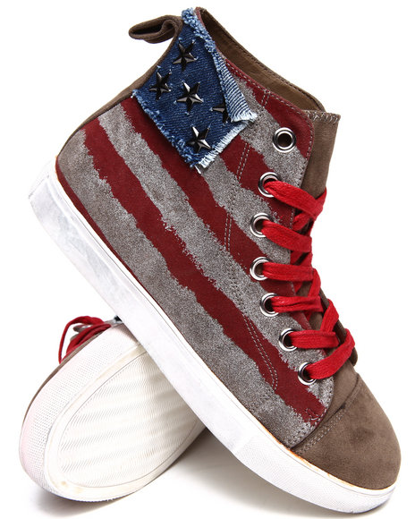 Penny Sue - Women Blue,Red,White Country Canvas Hi Sneakers