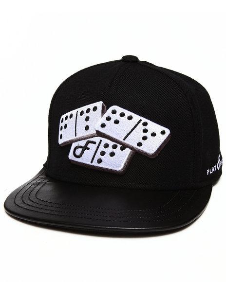 Buyers Picks Men Domino Strapback Hat Black