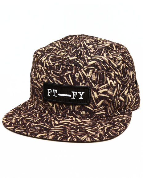 Buyers Picks Men Bullet Strapback Hat Gold