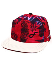 Men - Purple Eagle Moon Sublimated Snapback Hat