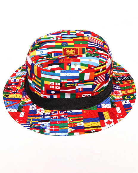 Buyers Picks Men World Class Multi Bucket Hat Multi Large/X-Large