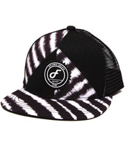 Men - Zebra Split Snapback Hat