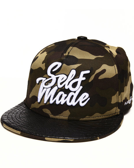 Buyers Picks Men Self Made Snapback Hat Camo - $21.99