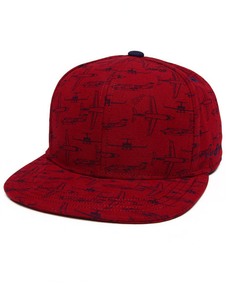 Buyers Picks Men Flight Pattern Snapback Hat Red - $21.99