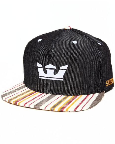 Supra - Men Black Icon Starter Snapback Cap