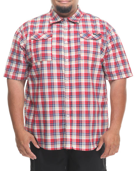 Enyce - Men Red Geek S/S Button-Down (B&T)