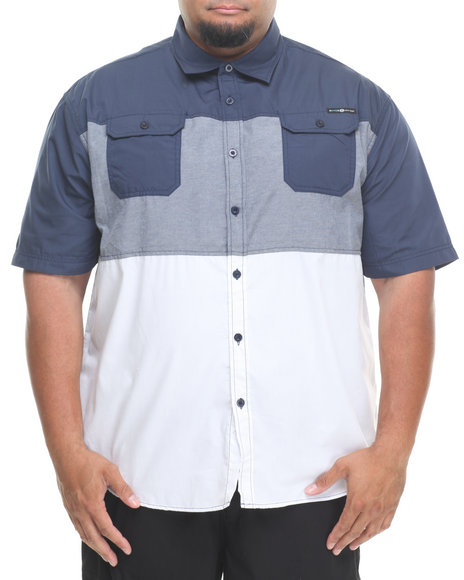 Enyce - Men Navy Malibu S/S Button-Down (B&T)
