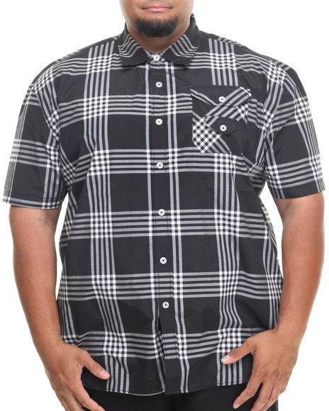 Enyce Black George S/S Button-Down (Big & Tall)