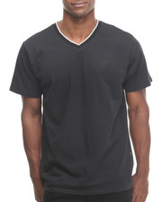 Enyce - BLACK V-NECK TEE W/CONTRAST TOP