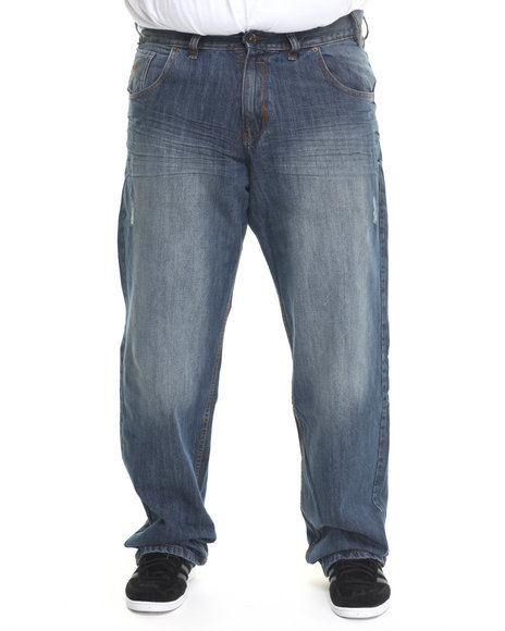 Rocawear - Men Medium Wash St Nick Jeans (B & T)