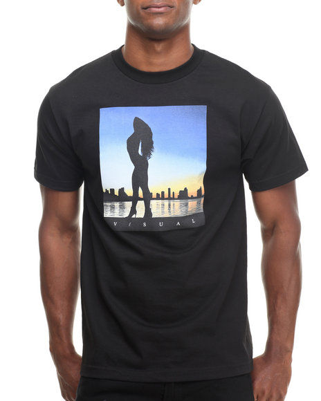 Visual By Van Styles - Men Black Visual By Van Styles Dusk Tee