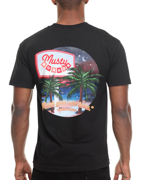 Odd Future Apparel - Men Black Musty Burger Tee