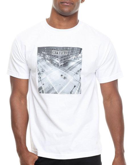 Visual By Van Styles - Men White Visual By Van Styles Patrol Tee