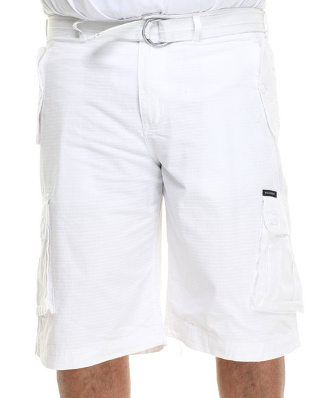 Rocawear - Men White Blueprint 2 Cargo Shorts (B & T)