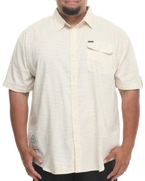 Rocawear - Men Cream Speckled S/S Button-Down (B&T)