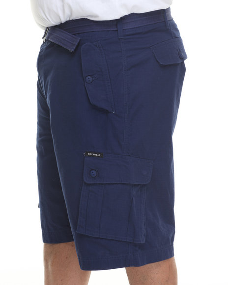 Rocawear - Men Blue Blueprint 2 Cargo Shorts (B & T)
