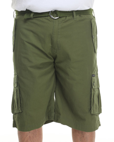Rocawear - Men Green Blueprint 2 Cargo Shorts (B & T)
