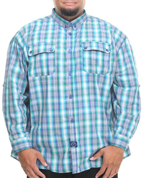 Rocawear Blue Global Warming L/S Button-Down (Big & Tall)