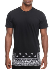 Men - DSTRKT Bandana Zip off Bottom S/S Tee