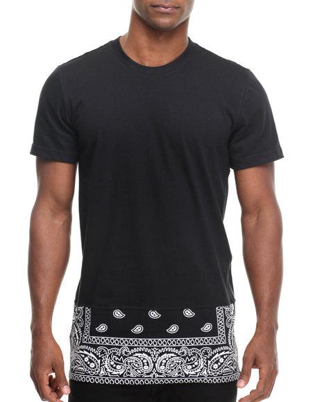 Buyers Picks - Men Black Dstrkt Bandana Zip Off Bottom S/S Tee - $36.99