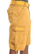 Basic Essentials - Fine - Twill Cargo Shorts w/ Contrast Stitch