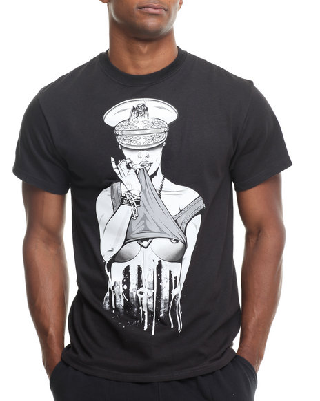 Trukfit - Men Black Private Parts T-Shirt