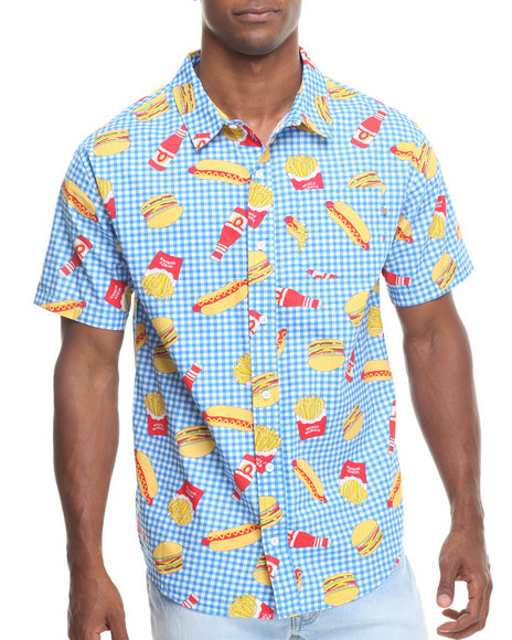 Odd Future Apparel Blue Musty Burger Woven Shirt
