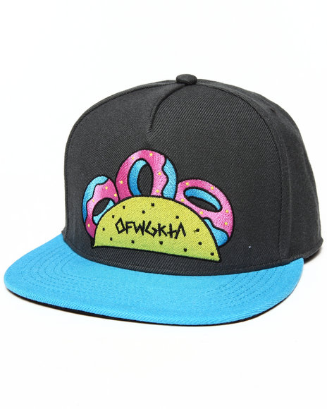Odd Future Apparel Taco Tat Snapback Hat Grey