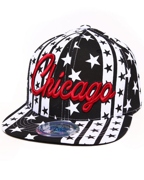 Buyers Picks Men Chicago B&W Stars Snapback Hat Red