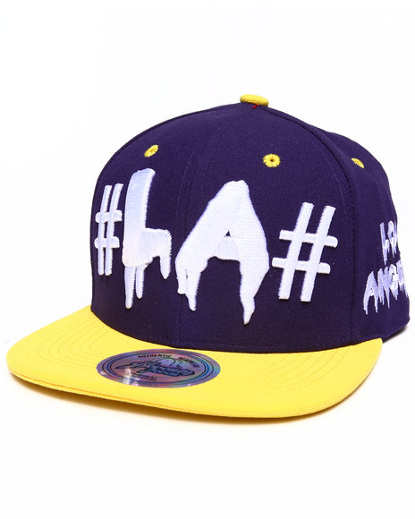 Buyers Picks Men Los Angeles Drip City Snapback Hat Purple - $7.99