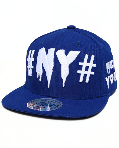Buyers Picks Men New York Drip City Snapback Hat Blue - $10.99