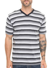Basic Essentials - Striped Vneck Tee