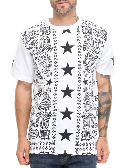 Buyers Picks - Men White Bandana & Stars Remix Tee - $22.99
