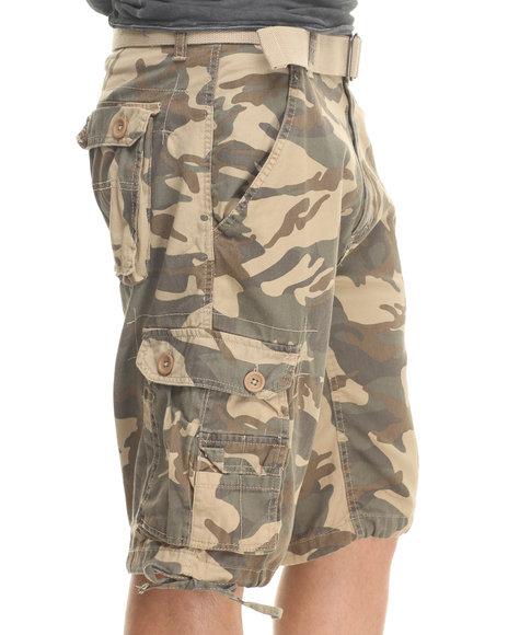Basic Essentials - Men Camo,Khaki Camo Shorts