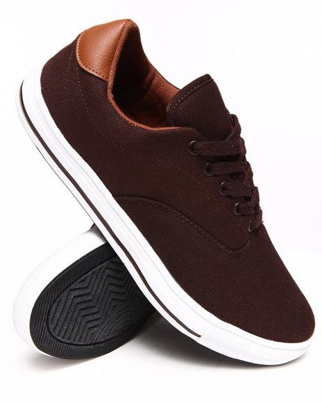 Buyers Picks - Men Brown Lowtop Canvas Sneakers - $24.99