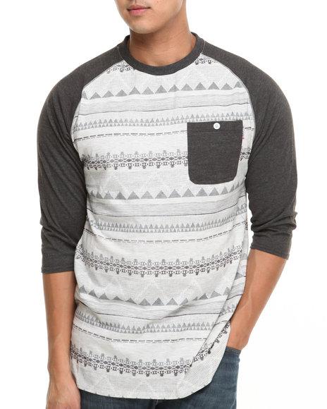 MO7 - Allover Aztec Print Raglan Shirt