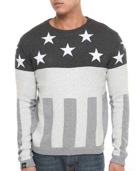 Hudson NYC Grey No Country Flag Sweater