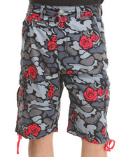 Men - Blackout Rose Camo Cargo Shorts