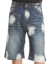 MO7 - Bleached Medium Indigo Denim Shorts