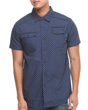 MO7 - Allover Print Mo7 S/S Button down shirt