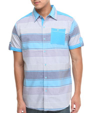MO7 - Horizontal Stripe S/S Button Down Shirt