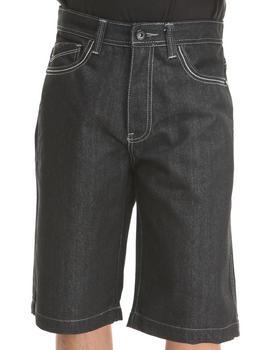 MO7 - Camo Twill trim Back pocket denim shorts