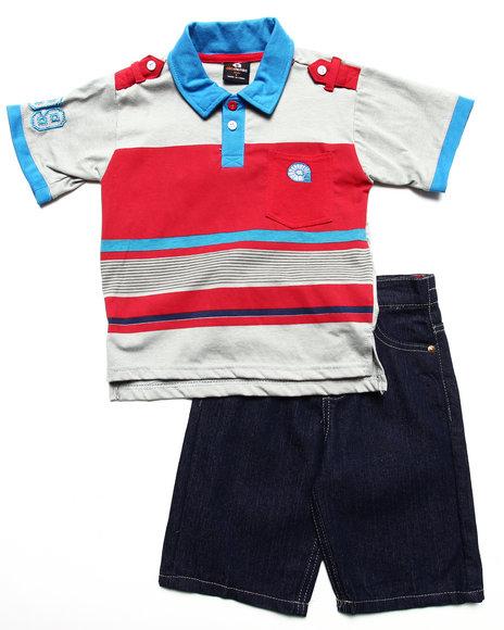 Akademiks Boys Multi 2 Pc Set Polo & Shorts (4-7)