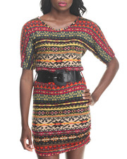 Dresses - Hacci Knit Dress w/ Belt