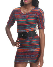 Dresses - Tanya Tribal Print Knit Dress w/ Belt